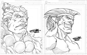 SDCC sketches AKUMA and ADON by NgBoy