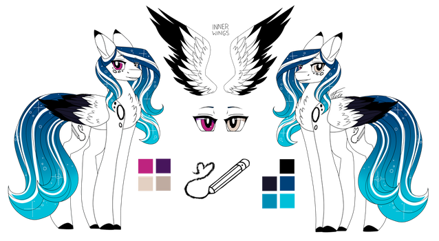 Marie Pixel Reference Sheet 3.0 :Main OC: by InspiredPixels