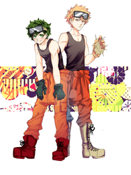 deku and kacchan by Kolviex
