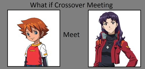 (REQUEST) What if Chris met Misato? by FlainYesFourzeNo
