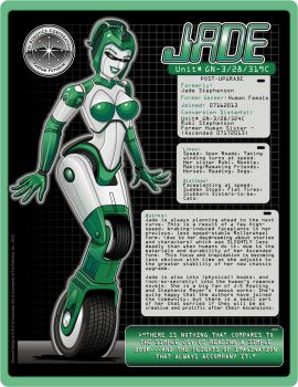 Jade - Motorcycle Racer - Color by laughingvulcan