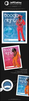 Boogie Nights Flyer Poster by sirjeffoakley