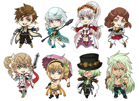 Tales of Zestiria Stickers by fir3h34rt