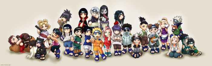 Naruto Chibis Group by ghostfire