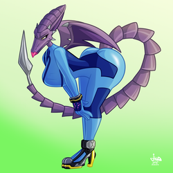 Zero-suit Ridley by JAMEArts