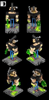 Voxel character by spundman