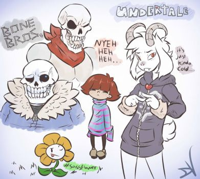 Undertale Sketches [Potential Spoilers] by Fluffernubber