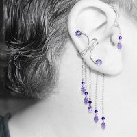 Purple  Ear Wrap And Cuff Set- SOLD by YouniquelyChic