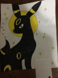 Colored Umbreon by dovewing379