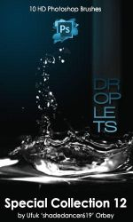 Water Droplets Photoshop Brushes by shadedancer619