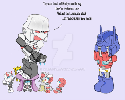 Optimus and chibis 3 by GoreChick