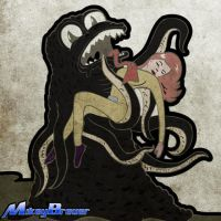 Octopus Space Monster Thing by michabre