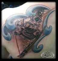 Skier by state-of-art-tattoo