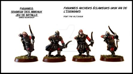 Figurines archers Scouts Uruk Hai of Isengard by Valtorgun-le-Grand