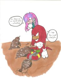 Knuckles and Julie-Su Meet Their Real Selves by TheShadAmyArtistO10