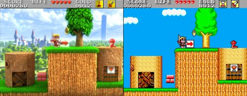 Wonder Boy in monster land 3D / Retro Splitted by Guile93