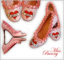 Valentines Shoes. Love + Hate. by miss-bunny-shoes