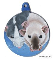 Rat Bauble by wolfysilver