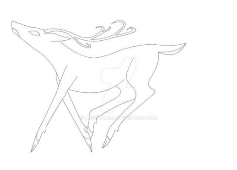 deer drawing for kids Coloring page sample by arshadali