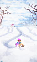 Sledding by TheFloatingTree