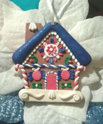 Handcrafted One of a Kind Gingerbread House Christ by Valtira