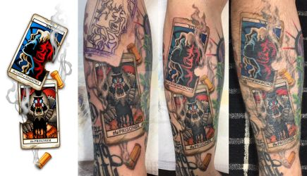 Dark Tower Tattoo Progression III by shokxone-studios