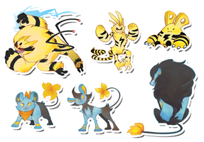 Pokemon Stickers Set 6