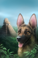 Rin Tin Tin and the lost King by MoaWallin