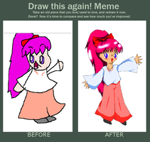 Draw This Again Meme - Kaori by TheRealBeautifly