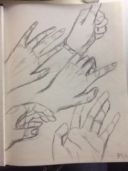 Hand practice #1 by horsedog0911