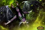 [World Of Warcraft] - Illidan Stormrage cosplay by Alexial-kun