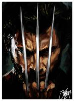 Wolverine Movie Painting by kyle-lambert