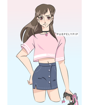 casual dva by PurpelyPip