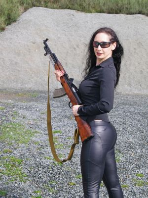 Girl with Rifle 7 by geoectomy-stock