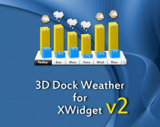 3D Dock Weather V2 for xwidget by Jimking