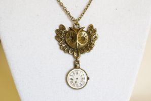 Steampunk Owl Necklace by MonsterBrandCrafts
