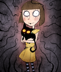 Fran Bow (Commission) by Atlas-White