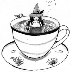 Inktober - chamomile witch by Teavian