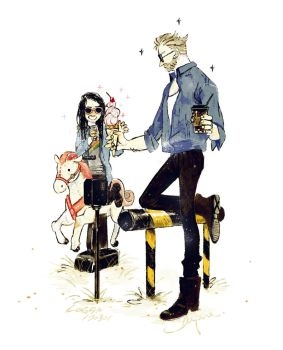 Logan and Laura by dugonism