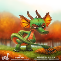 Daily Paint 1791# D'raking by Cryptid-Creations