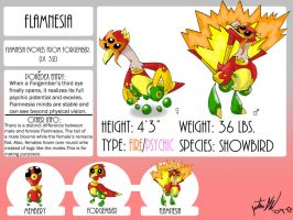 Fakemon, Flamnesia by mastergloyd