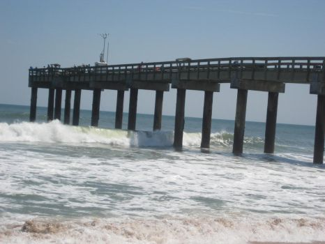 Free Stock Surf Ocean Pier Waves by SilverRiverStock