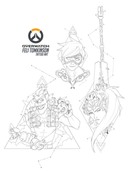 Overwatch Tattoo Commissions by felitomkinson