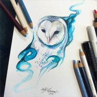 226- Galaxy Owl by Lucky978