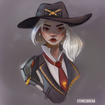 Ashe from Overwatch!! by stonesbreaak