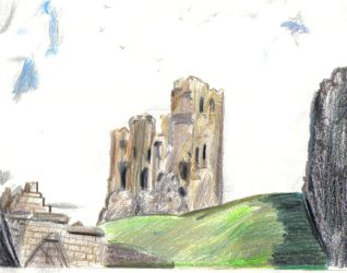 Colour Sketch Of Scarborough Castle by musehick