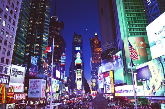 Time Square at Dusk by imilee
