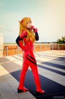 Asuka plugsuit cosplay by HeavenAndSky