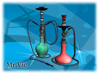 Two props hookahs by Victorixxx