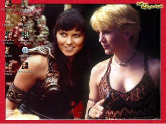 Gabby and Xena Desktop by PhoenixDawnDolliez